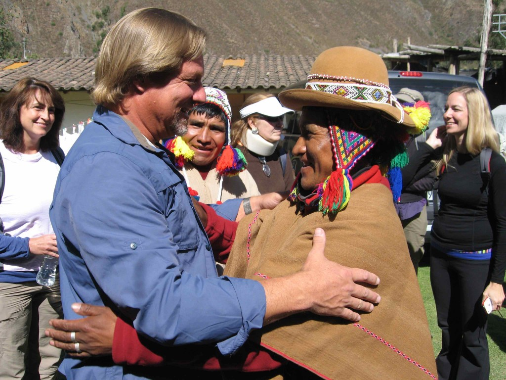Shaman Jon Rasmussen with Shaman don Francisco