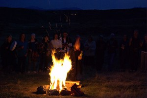 Jon Rasmussen Conducting a Fire Ceremony